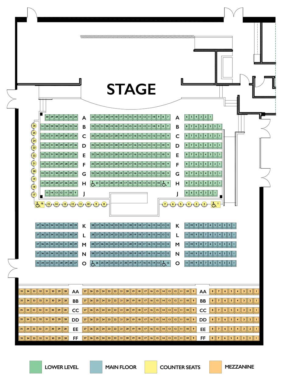 Tupelo Theatre Seating Chart
